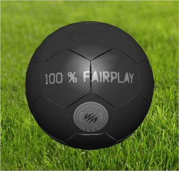 "Fußball Modell ""100 % Fairplay"" Player soft"